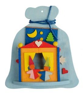 Décoration de sapin de Noel, hotte à jouets