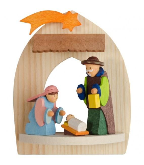 Jésus, Marie et Joseph, crèche de Noel à suspendre au sapin