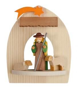 Berger et ses moutons, crèche de Noel à suspendre au sapin
