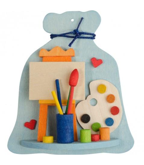 d coration de sapin de noel sac jouets et palette de peinture. Black Bedroom Furniture Sets. Home Design Ideas
