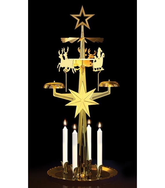 Carillons Noël doré