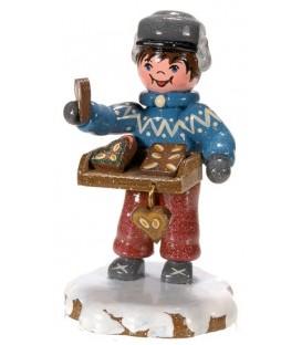 Village de Noël miniature, figurine, vendeur de pain d'épices