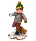 Village de Noël miniature, figurine écolier
