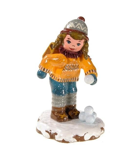 Village de Noël miniature, figurine écolière