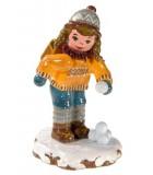 Village de Noël miniature, écolière