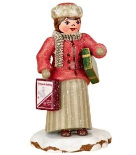 Village de Noël miniature, figurine enfant achats de Noël