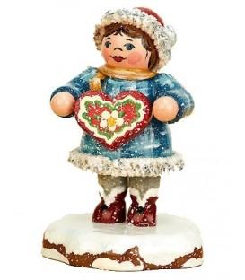 Winterkinder fillette et gâteau