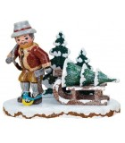 Décoration de Noël enfant, figurine bucheron