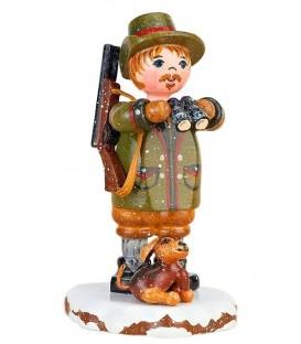 Village de Noël miniature, figurine enfant chasseur