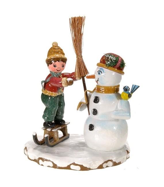 Décoration de Noël enfant, figurine, bonhomme de neige