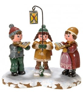 Village de Noël miniature, figurine enfant chorale enfants