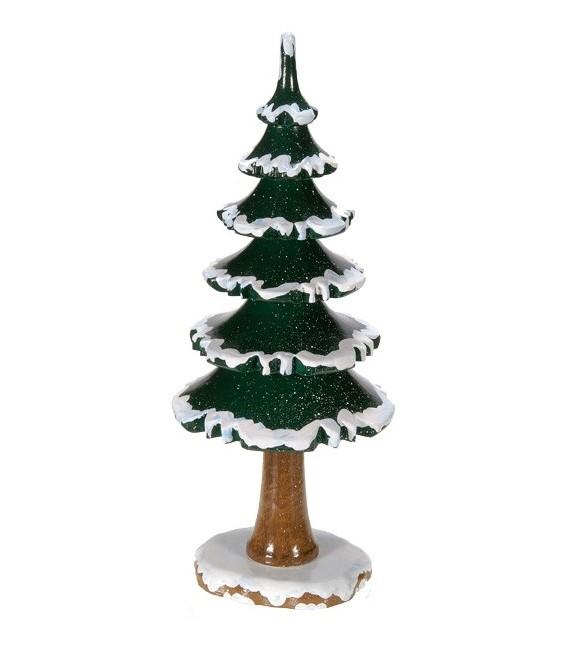 Figurine en bois grand sapin enneig - Decoration sapin enneige ...
