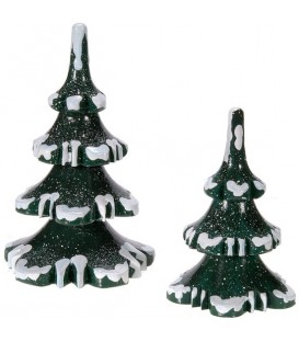 Village de Noël miniature, figurine enfant set de 2 sapins