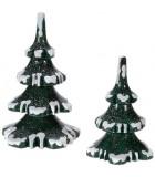 Village de Noël miniature, set de 2 sapins
