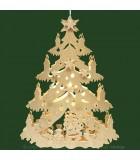 Décoration de Noël pour chambre d'enfant, sapin électrique à suspendre