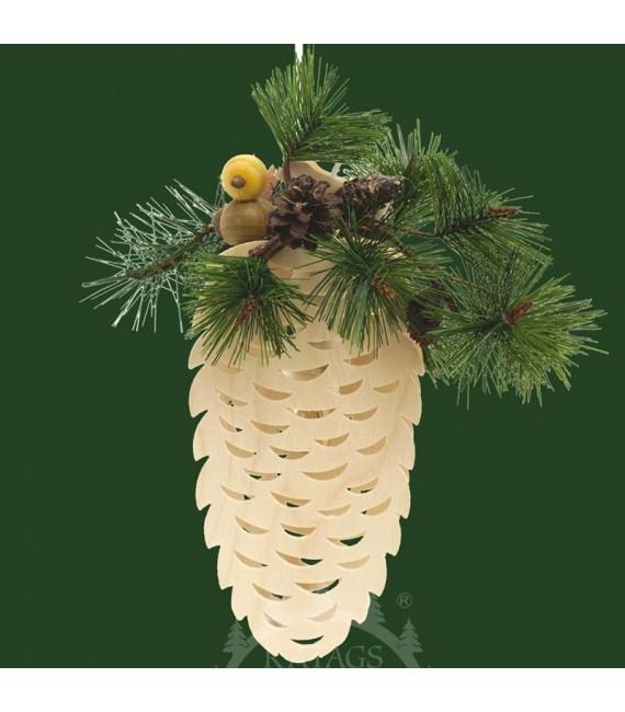 Cone de sapin fleuri électrique à suspendre
