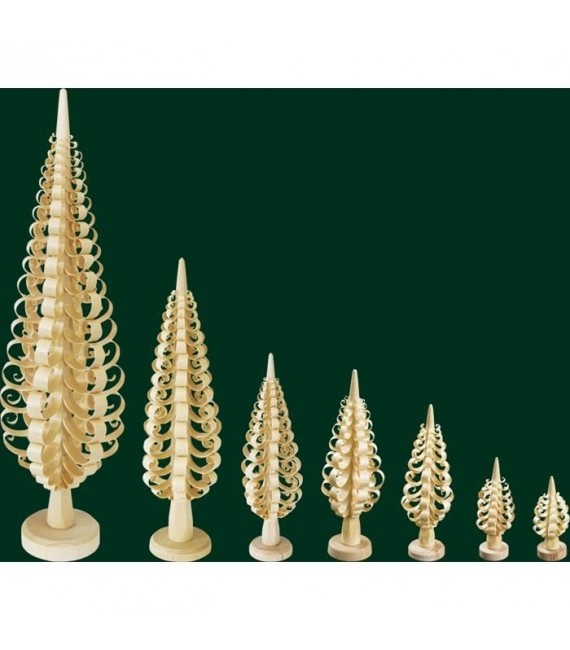 Petit sapin de Noël en bois sculpté, 8 cm