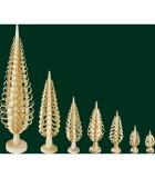 sapin Noël bois sculpté, 20 cm
