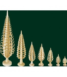 Grand sapin Noël bois sculpté, 35 cm