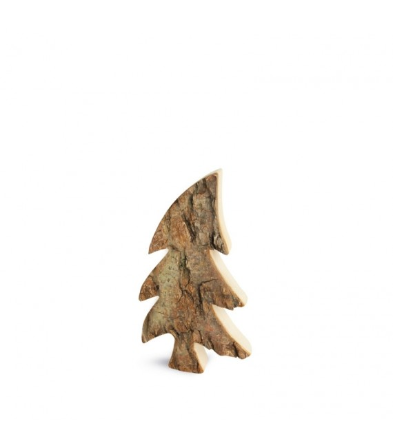 Sapin en bois, forme penchée 9 cm