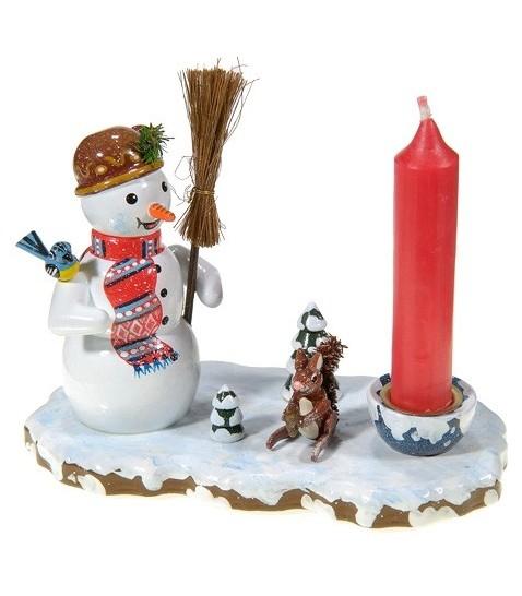 Petit bougeoir de no l bonhomme de neige - Bonhomme de neige en bois ...