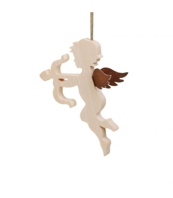 Ange pour sapin en bois d'érable avec un arc
