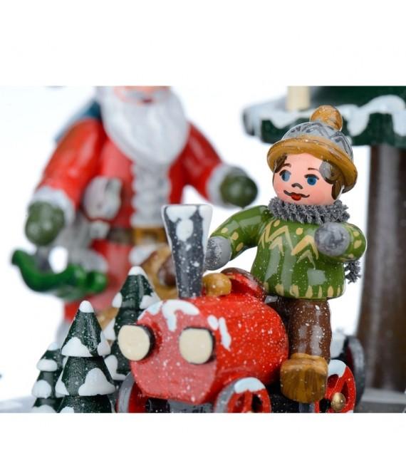 Boite à musique avec père Noël