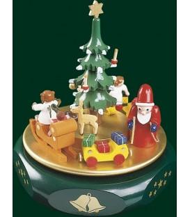 Boite à musique enfant, veillée de Noël autour du sapin