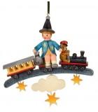 Décoration Noël Vintage, petit train et marchand de sable