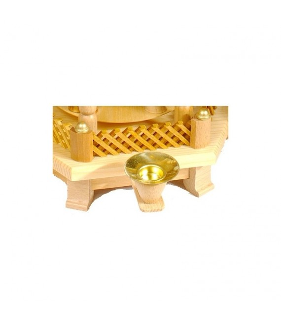 Barrière de rechange couleur bois pour pyramide à étages 102 mm