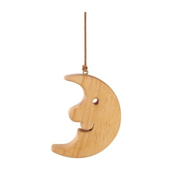 Lune en bois de chêne à suspendre 12,5 cm
