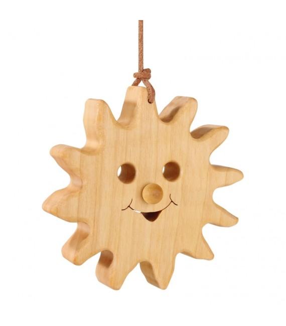 Soleil à suspendre en bois de chêne à suspendre 8 cm