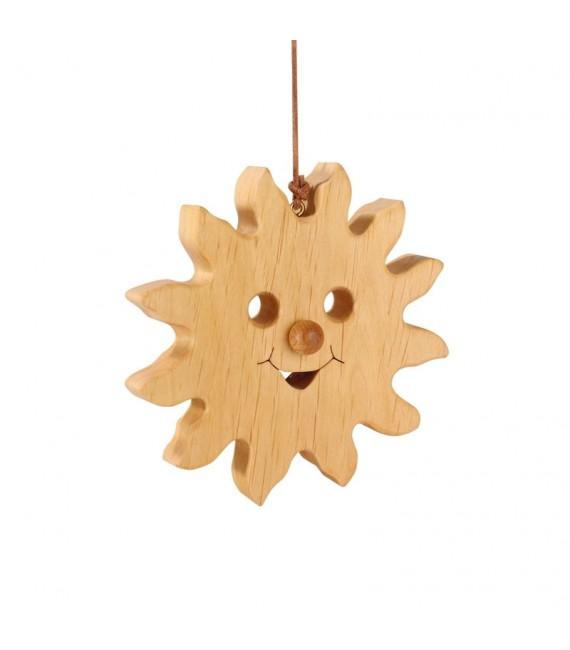 Soleil à suspendre en bois de chêne à suspendre 12 cm