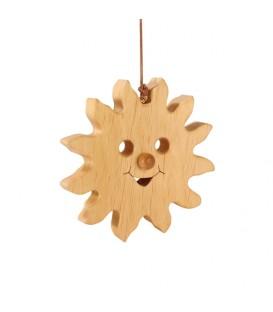 Soleil à suspendre en bois de chêne 12 cm