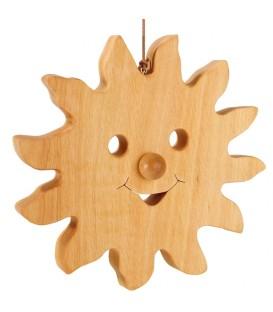 Grand soleil à suspendre en bois de chêne 20 cm