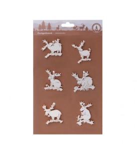 Décorations pour sapins 6 pendentifs : mini élans