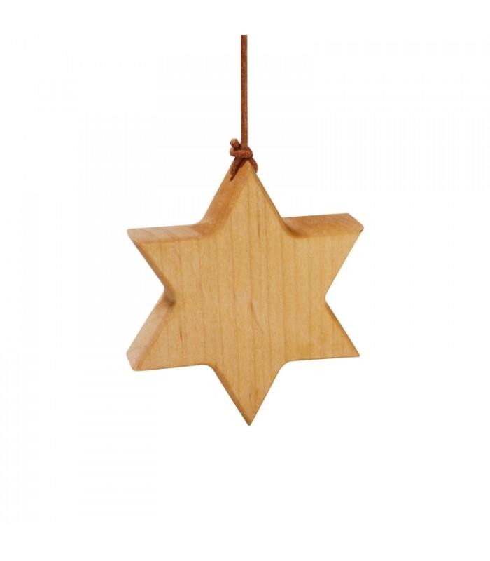 Etoile en bois daulne  7,5 cm  Déco sapin de Noël