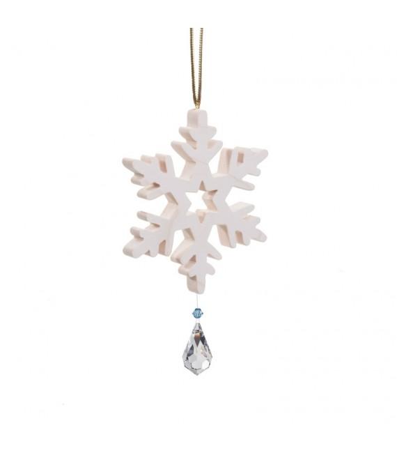 Flocon de neige à suspendre avec cristal Swarovski n° 2