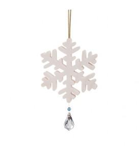 Flocon de neige à suspendre avec cristal Swarovski n° 3