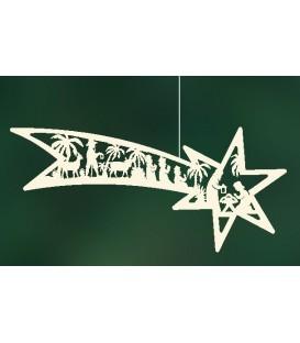 Grande étoile de Noel filante à suspendre