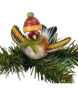 Oiseau décoratif à clipser, chardonneret
