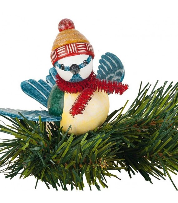Oiseau décoratif à clipser sur branche, mésange