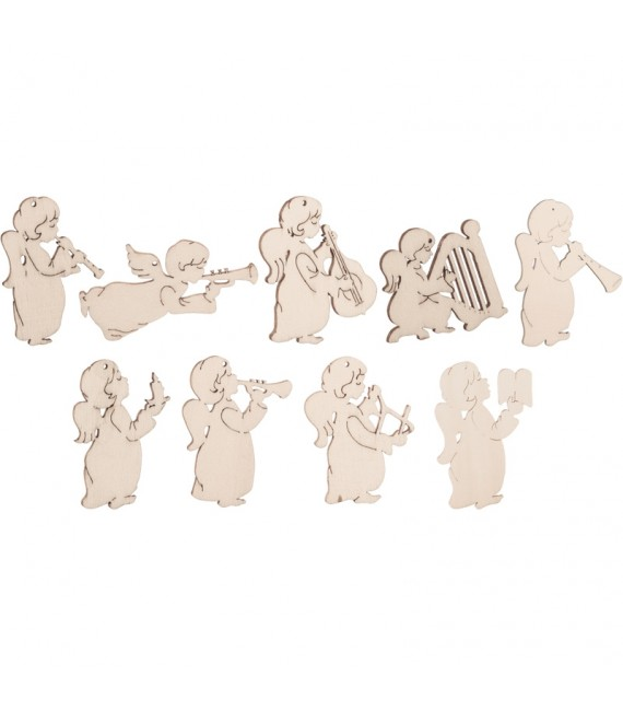 9 petits anges en pendentif