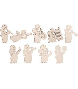 Décorations pour sapin 9 petits anges en pendentifs