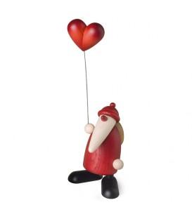 Père Noel rouge avec un coeur