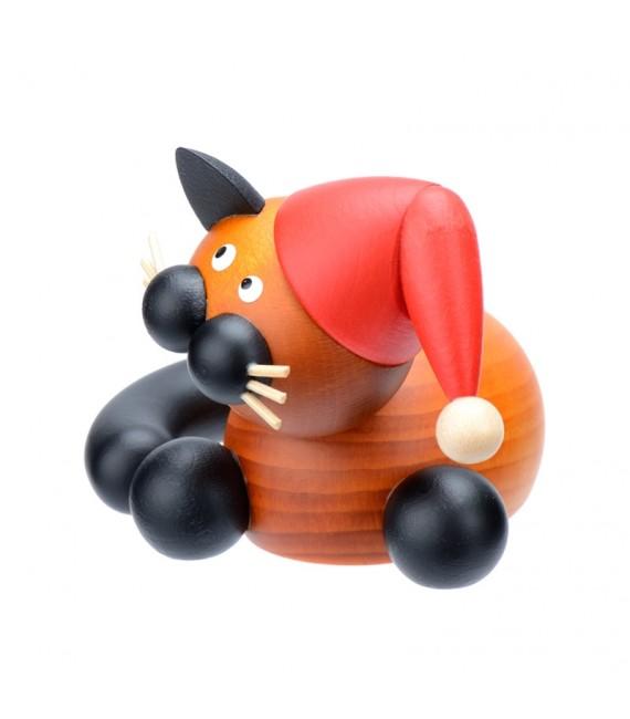 Figurines chats en bois père Noël