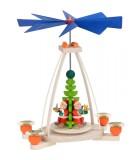 Manège de Noël à bougies avec 3 père Noel
