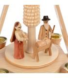 Enfant Jésus, Marie et Joseph dans une creche de Noel