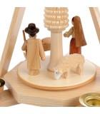 Carrousel en bois avec creche de Noel