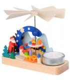 carrousel en bois père Noël